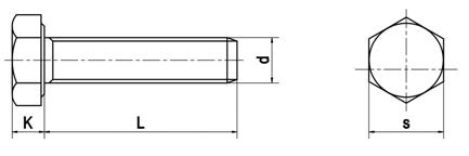 Bu lông cường độ cao theo tiêu chuẩn DIN 933