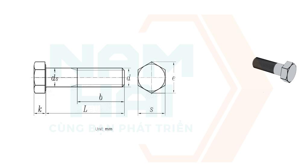 BS 4190 - 2014 - Bu lông lục giác