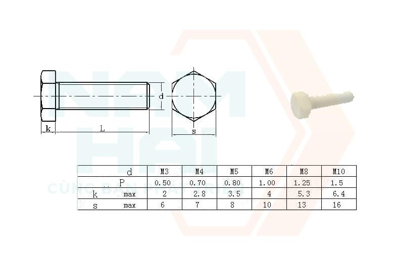 DIN 34810 - 1999 - Bu lông lục giác