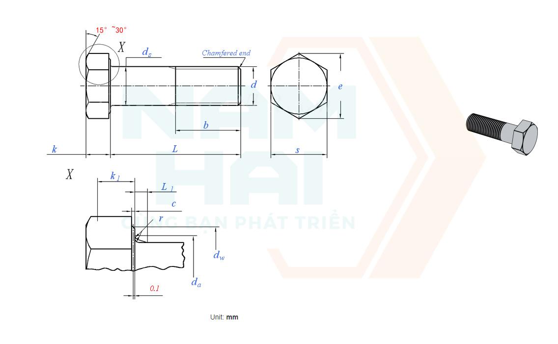 DIN EN ISO 8765 - 2011 - Bu lông lục giác