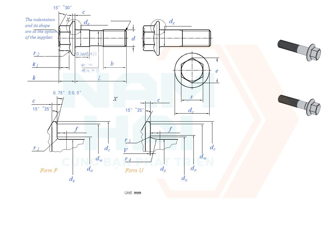ISO 15071 - 2011 - Bu lông long đen