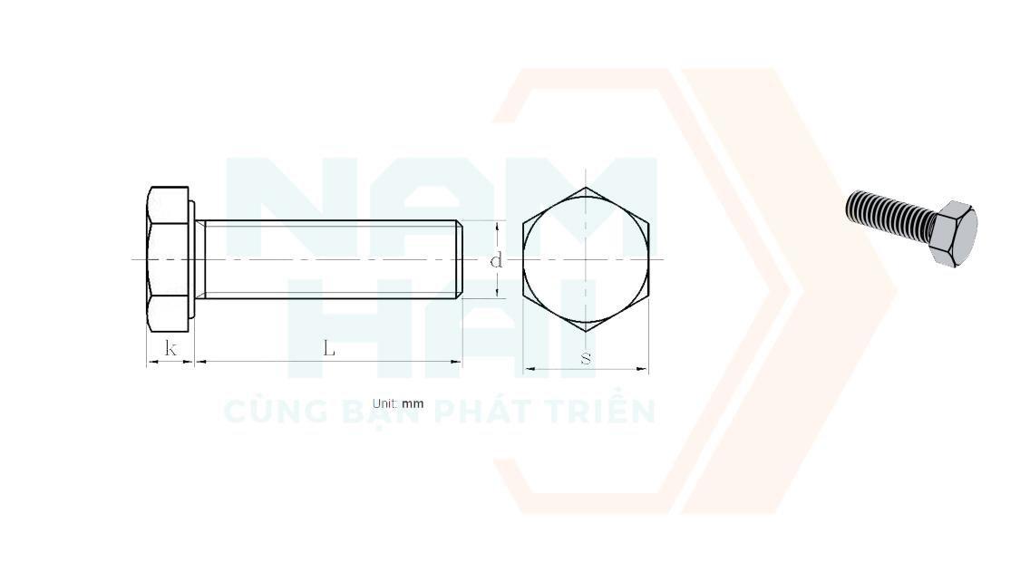 NF E 25-114 - 2001 - Bu lông lục giác
