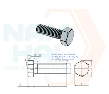 ISO 4017 - 2011 - Bu lông lục giác