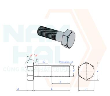 JIS B 1180 (ISO8765) - 2014 - Bu lông lục giác