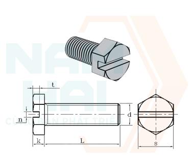 NF E 25-137 - 1986 - Bu lông lục giác