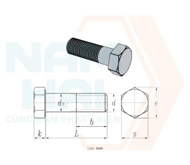 NF E 25-152 - 2001 - Bu lông lục giác