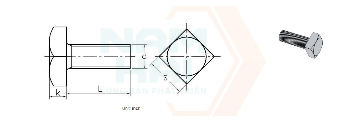 BS 916 - 1953 - Bu lông đầu vuông