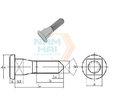 CNS 4574 - 1981 Cover Bolts Type A