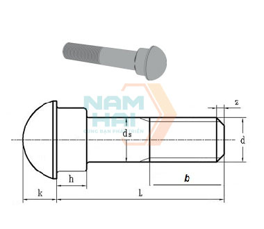 GB-8262-1987-Bolts-round-head-with-oval-neck