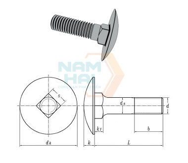 CNS 4424 - 1981 Cup Square Bolts