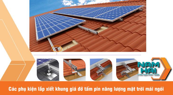 các phụ kiện lắp xiết pin mặt trời mái ngói