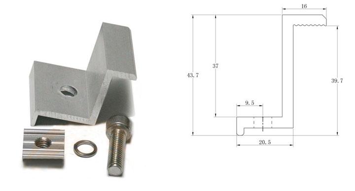 cấu tạo kẹp biên pin mặt trời chữ z