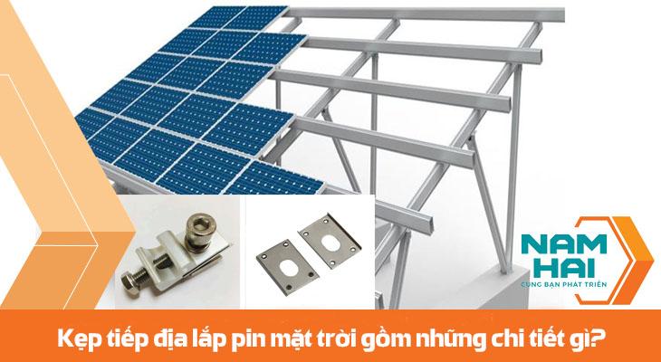 kẹp tiếp địa lắp đặt pin mặt trời