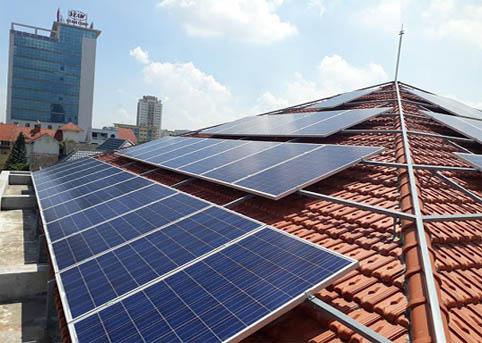 khung giàn lắp đặt pin mặt trời