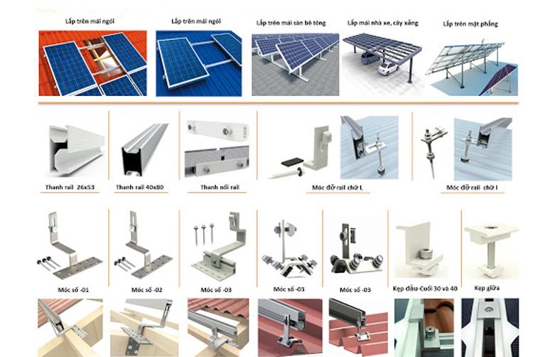 phụ kiện lắp đặt pin mặt trời 2