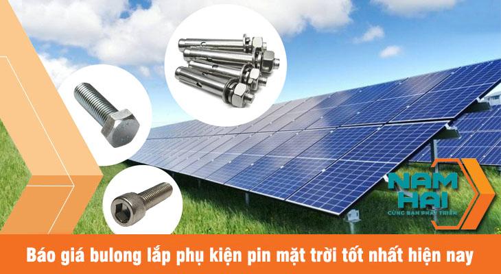 báo giá bulong lắp phụ kiện pin mặt trời