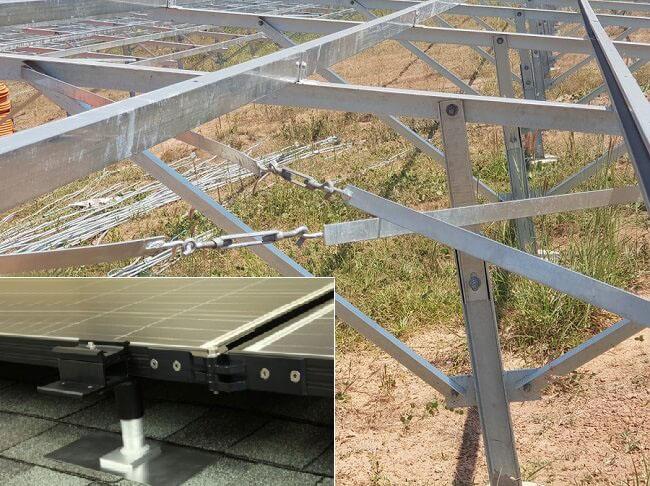 tăng đơ sử dụng lắp đặt pin mặt trời