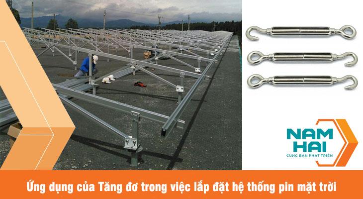 ứng dụng của tăng đơ lắp đặt pin mặt trời